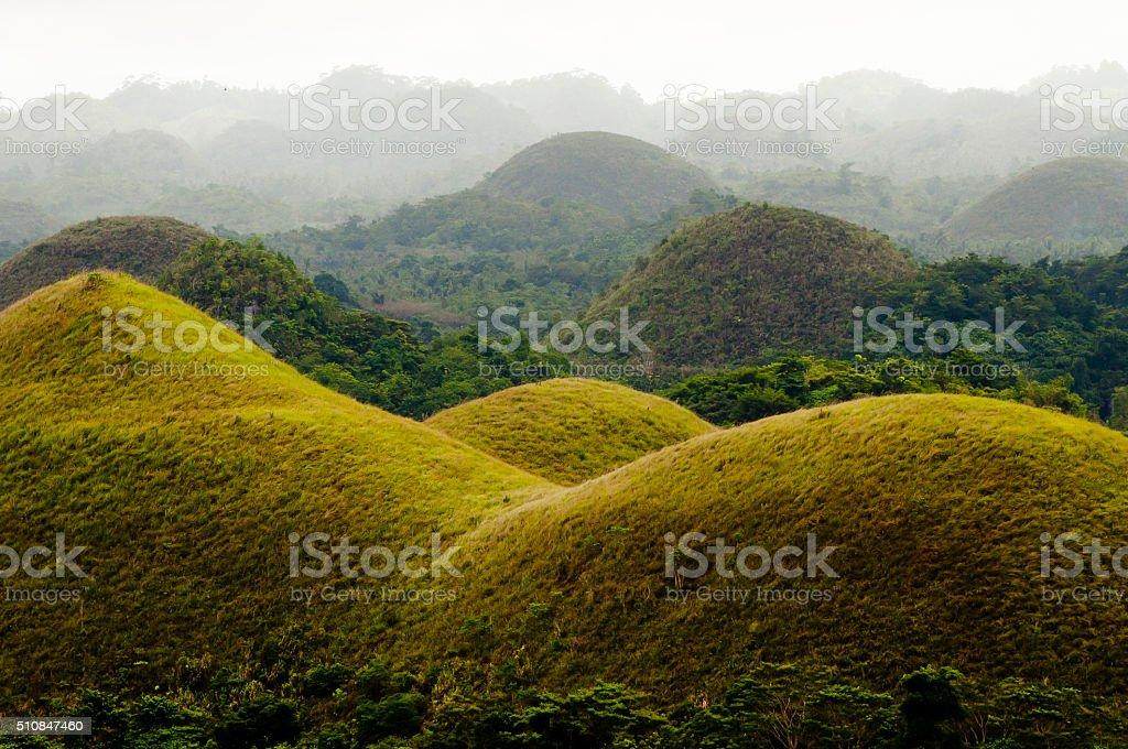 Chocolate Hills - Bohol - Philippines stock photo