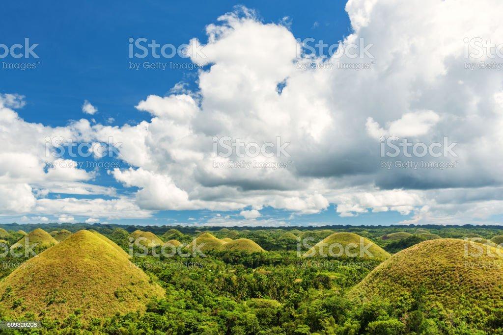 Chocolate Hills, Bohol, Philippines. stock photo
