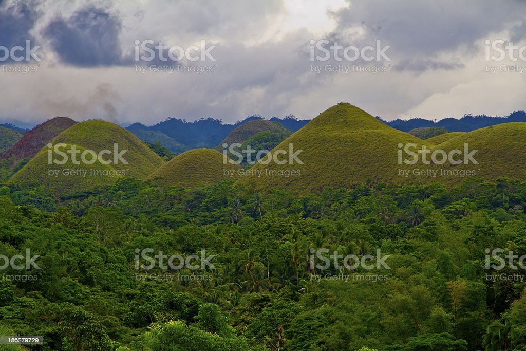 Chocolate Hills - Bohol Province, Philippines stock photo