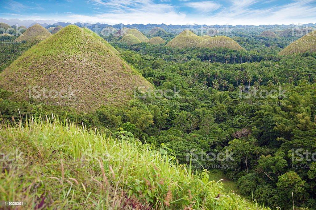 Chocolate Hills in Bohol stock photo