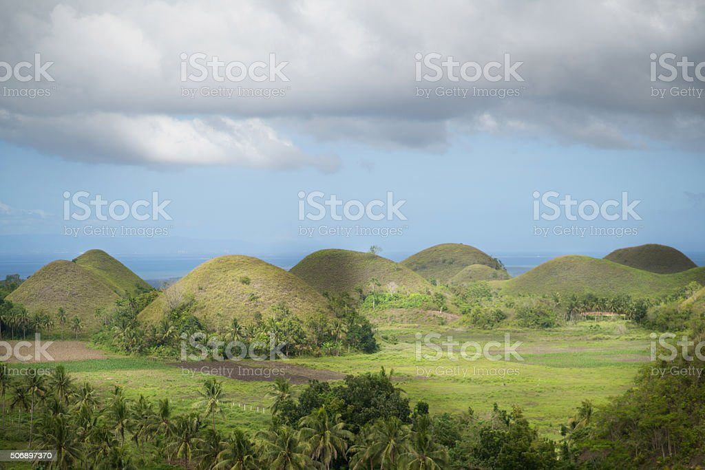 Chocolate Hills of Bohol, Philippines stock photo