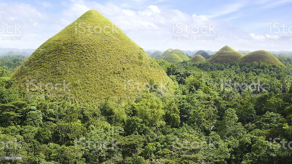 Chocolate Hills, Philippines royalty-free stock photo
