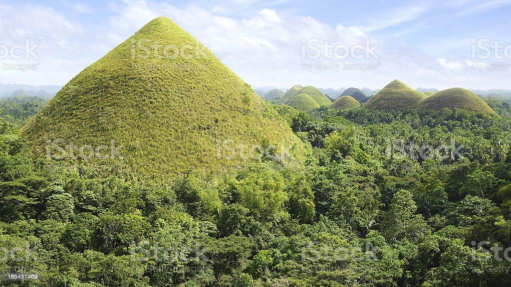 Chocolate Hills, Philippines stock photo