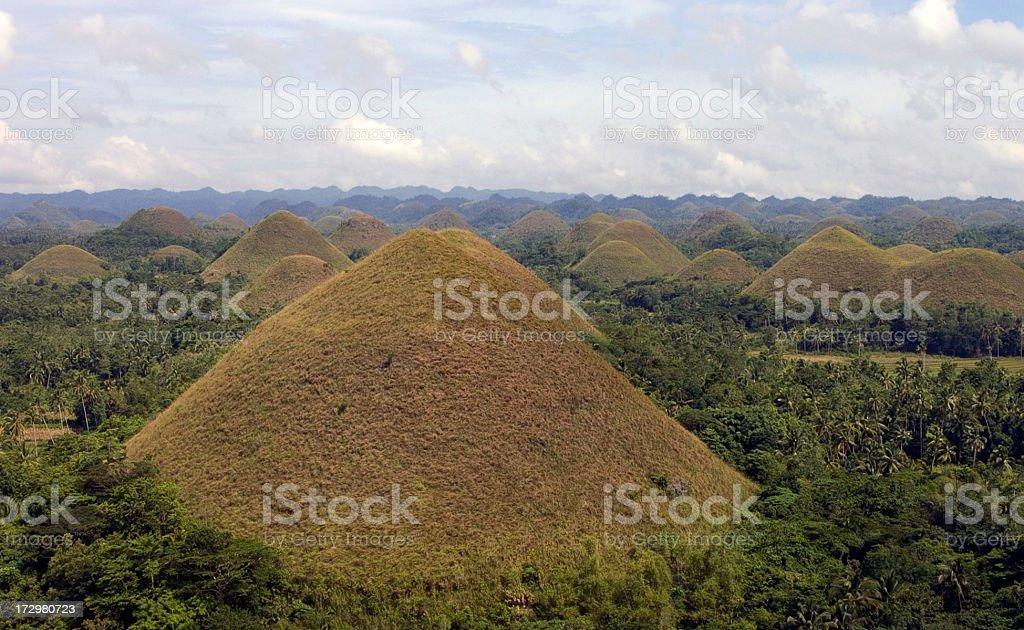Chocolate Hills stock photo
