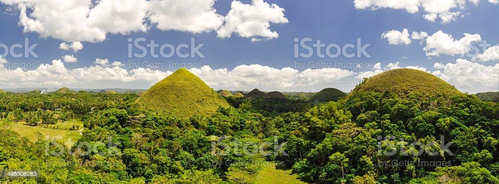Chocolate Hills XXL Panorama - Bohol, Philippines stock photo