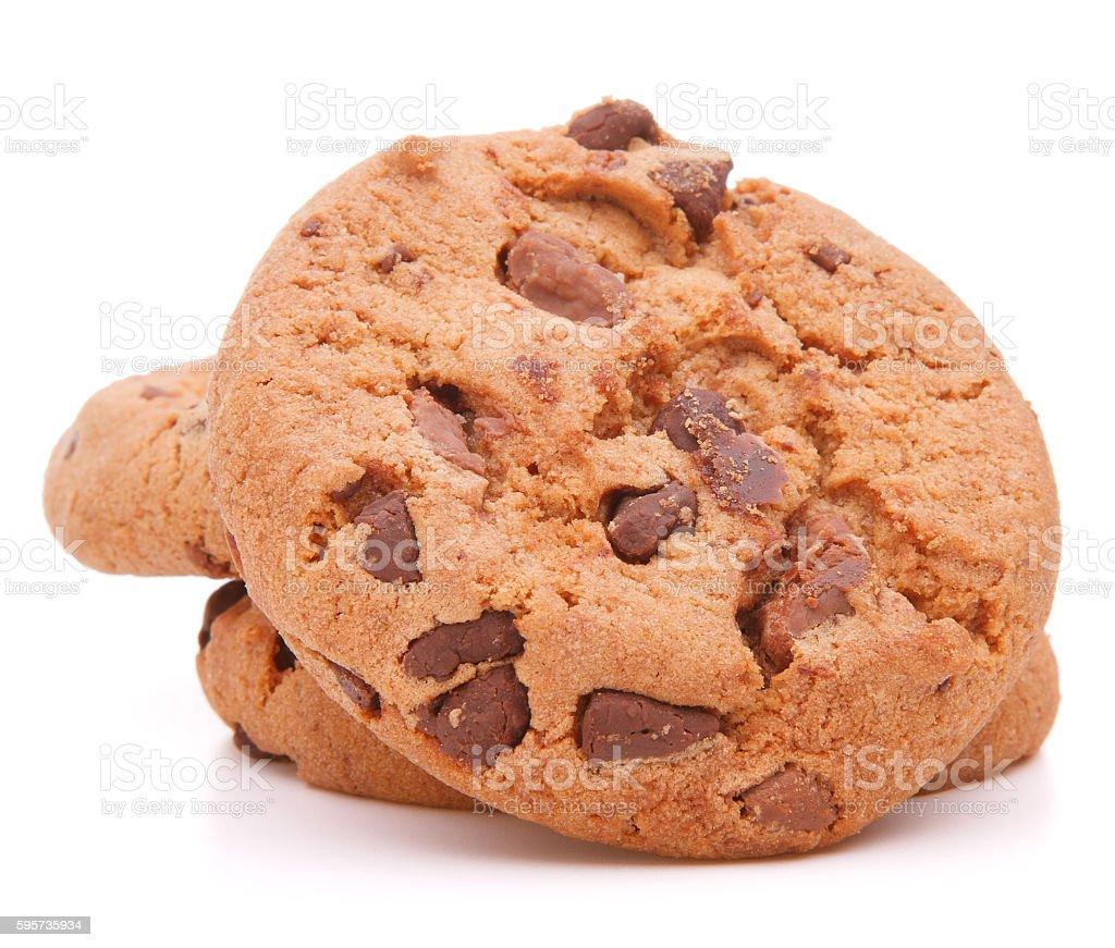 Chocolate homemade pastry cookies stock photo