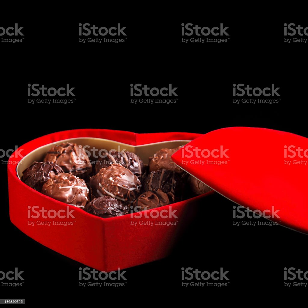chocolate in box royalty-free stock photo