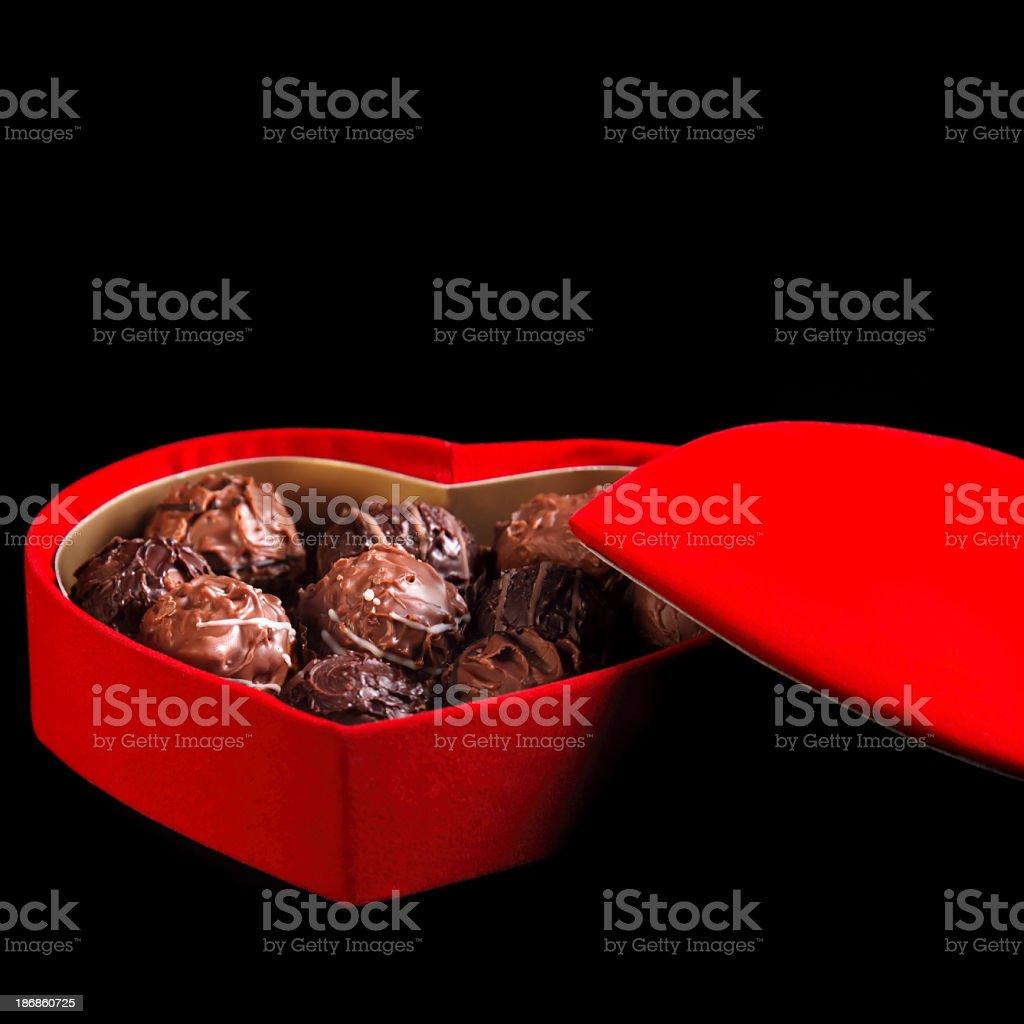 chocolate in box stock photo