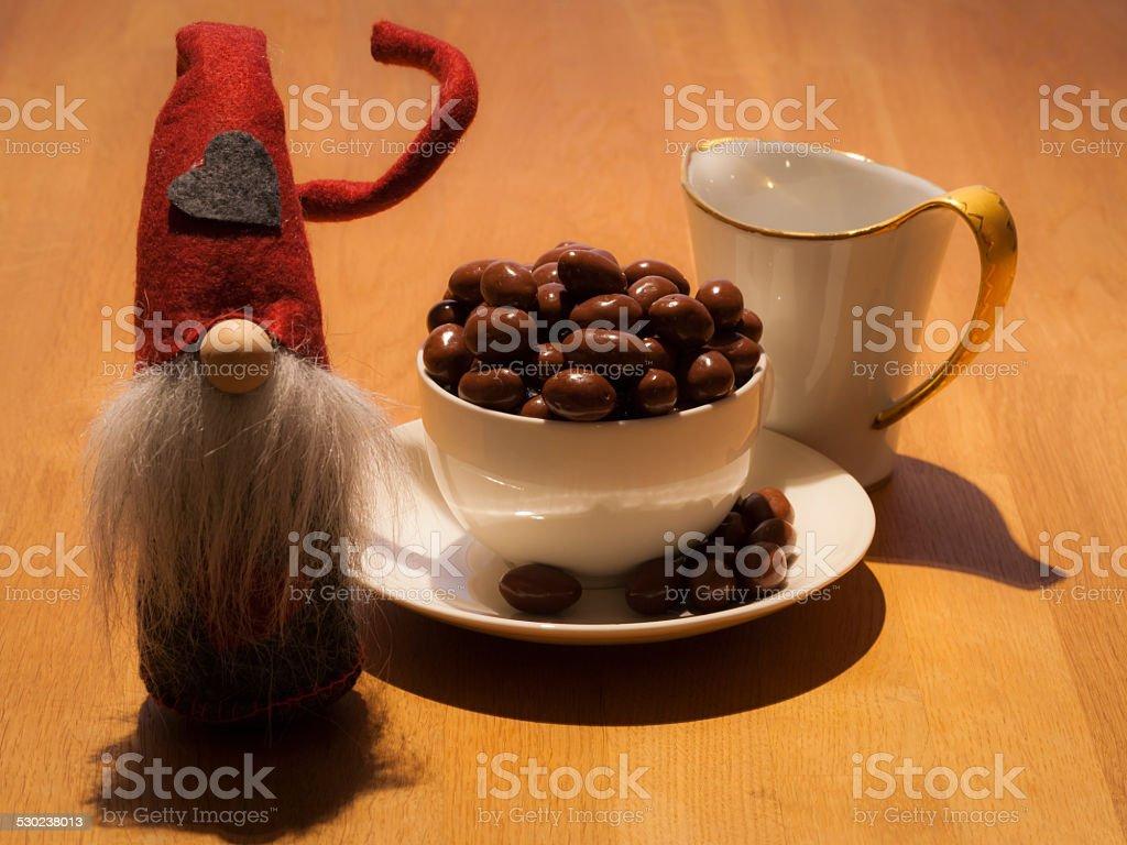 Chocolate in Christmas stock photo