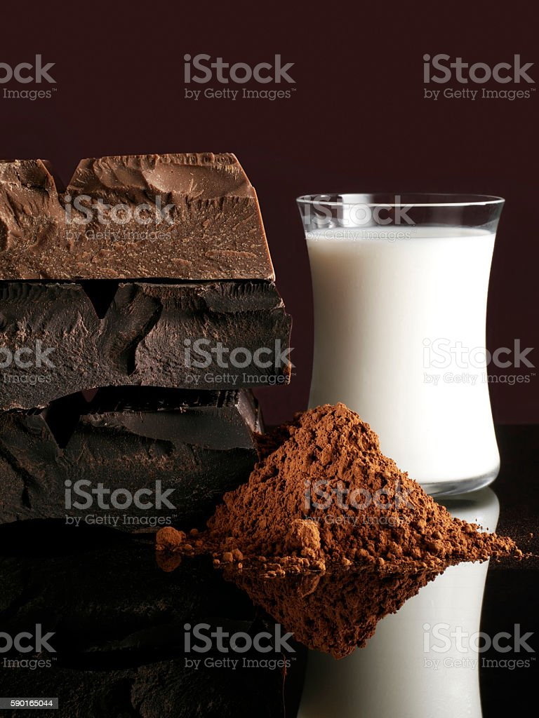 Chocolate Ingredients stock photo