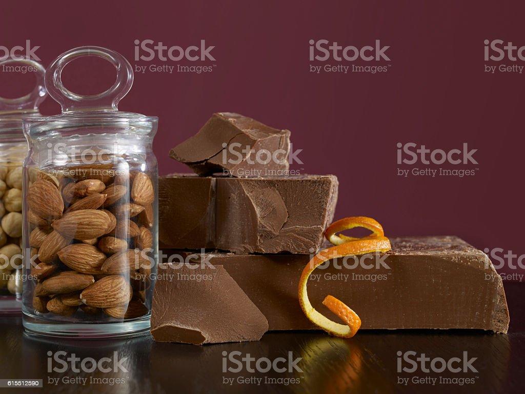 chocolate ingredients stock photo