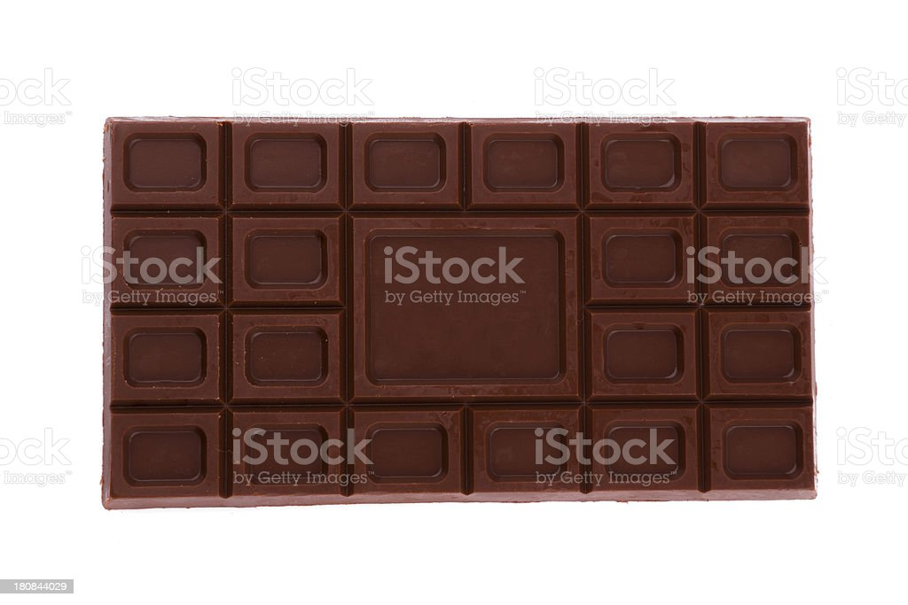 chocolate isolated on white background royalty-free stock photo