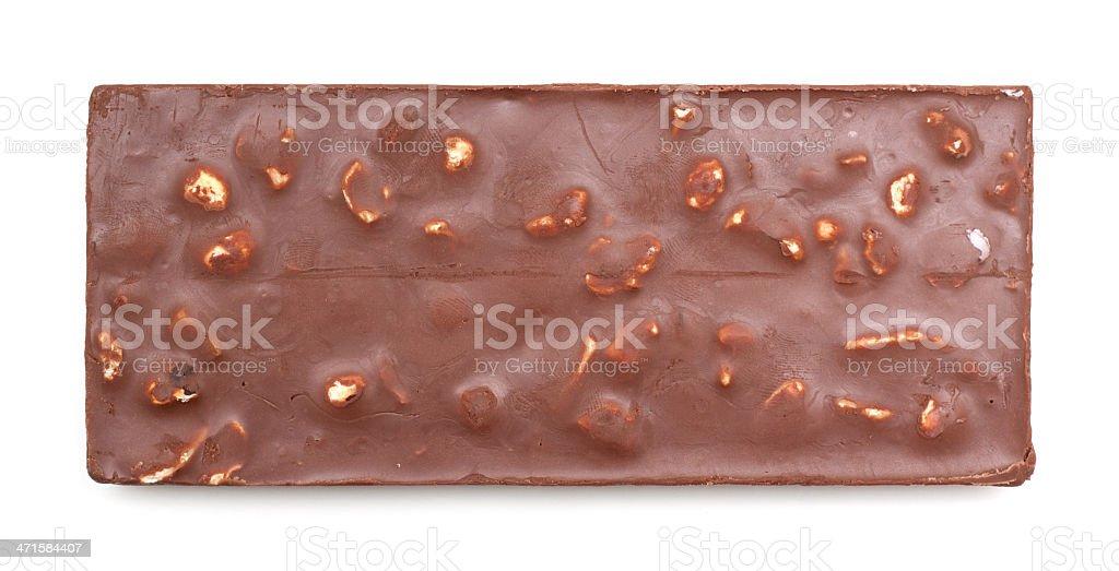 Chocolate isolated on white background stock photo