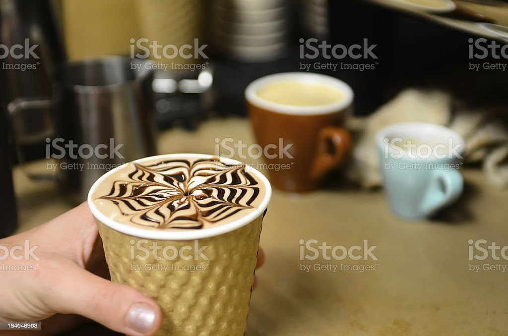 Chocolate Latte stock photo