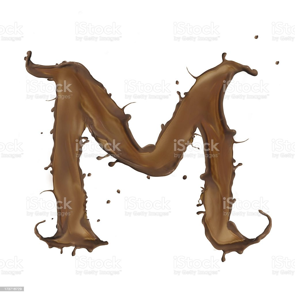 chocolate letter royalty-free stock photo