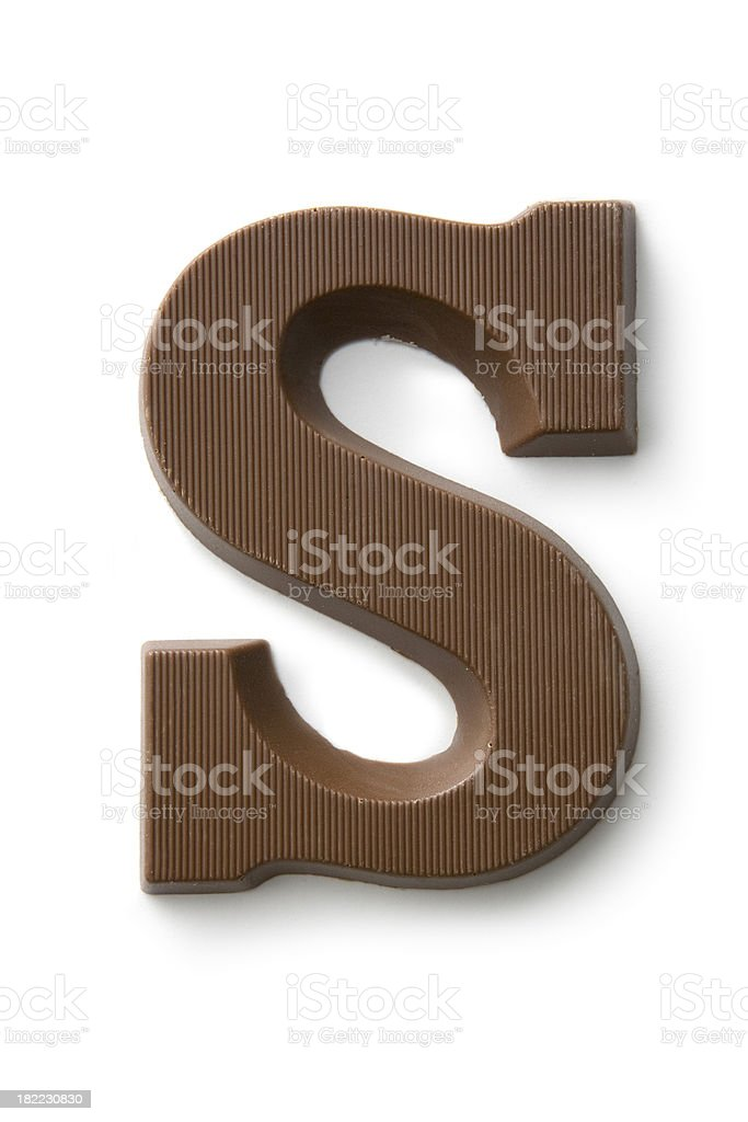 Chocolate: Letter stock photo