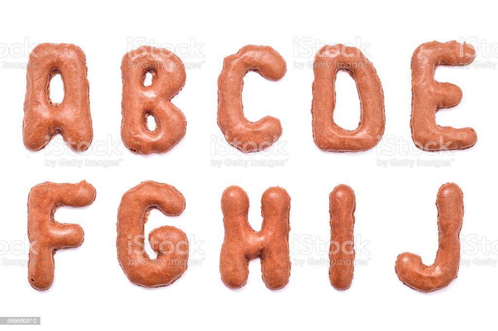 chocolate letters stock photo