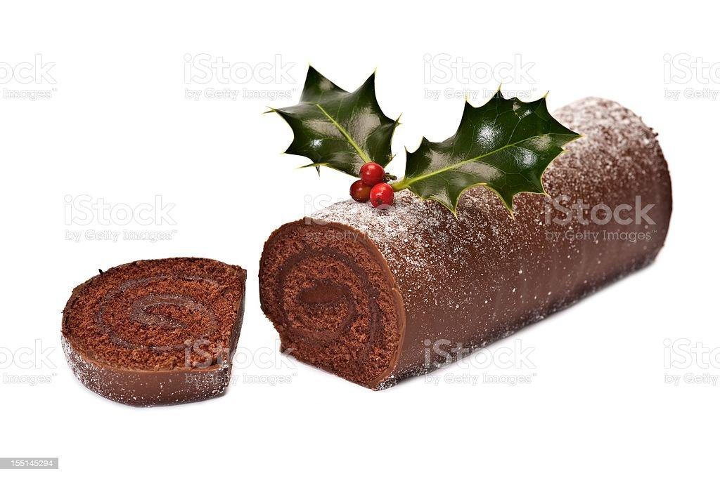 Chocolate Log royalty-free stock photo