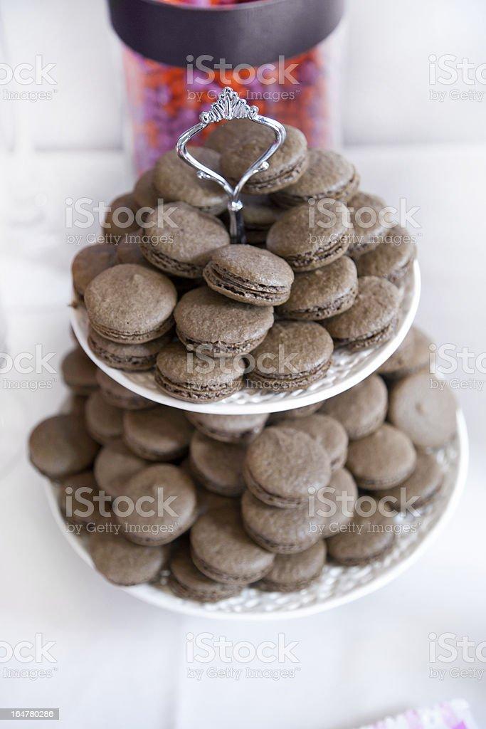 Chocolate Macaroons royalty-free stock photo