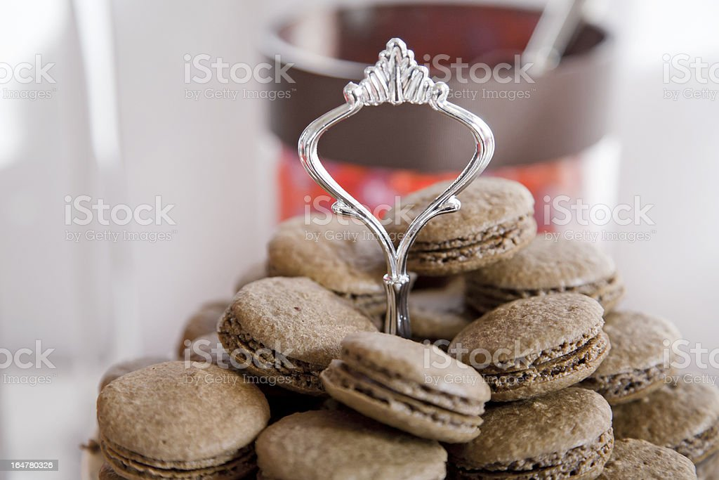 Chocolate Macaroons royalty-free stock photo