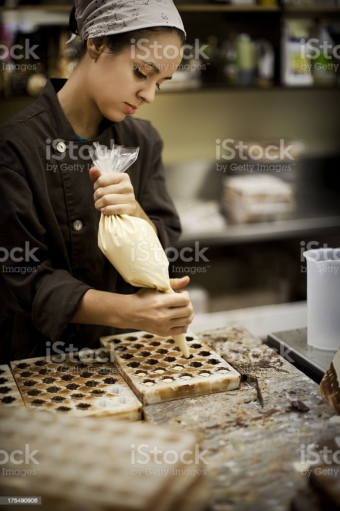 Chocolate Maker royalty-free stock photo