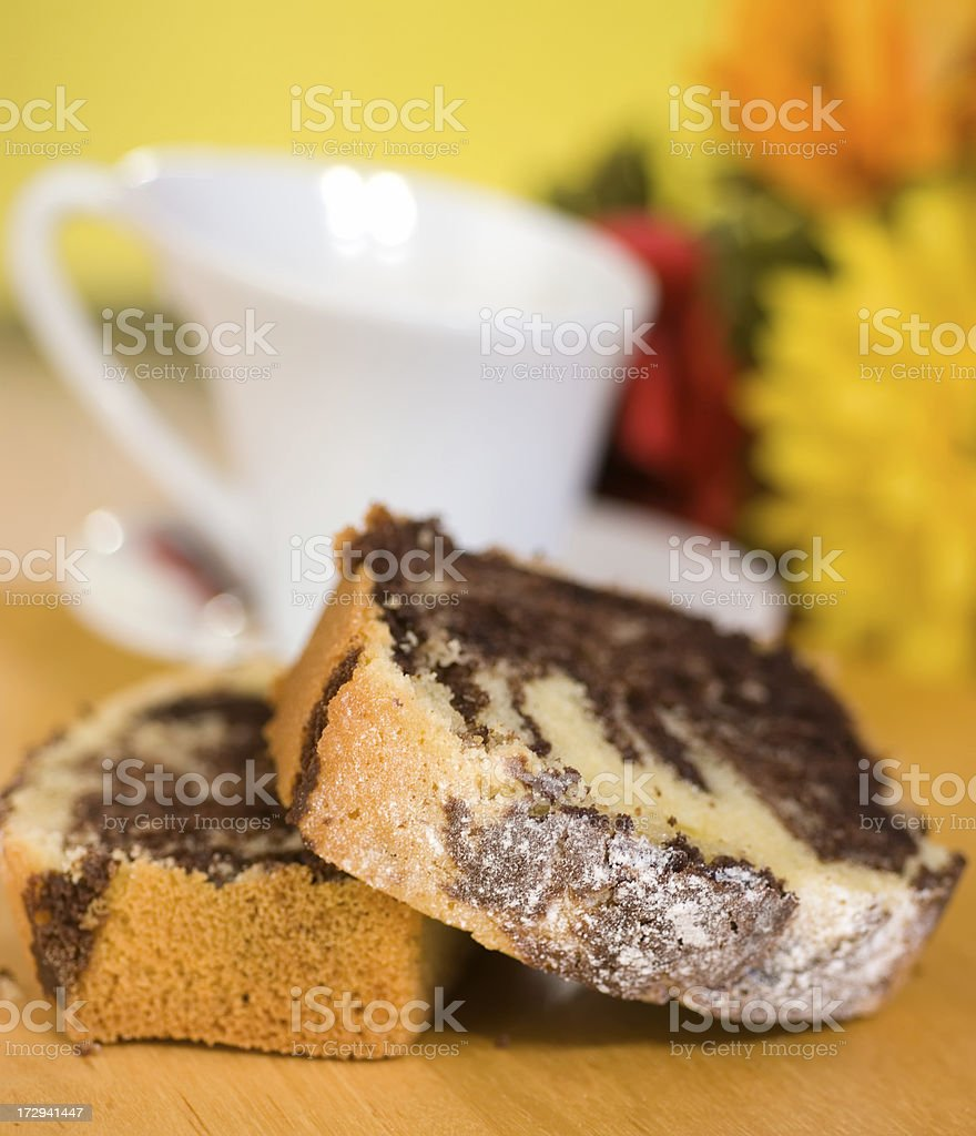 Chocolate marble cake stock photo