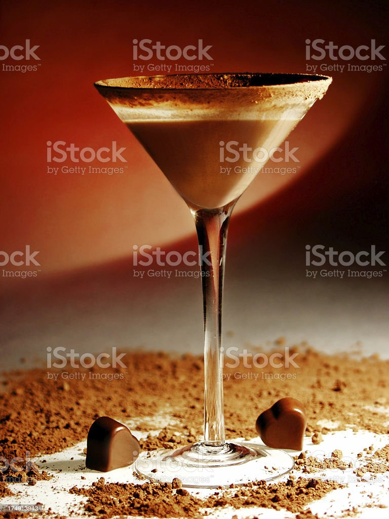 Chocolate Martini royalty-free stock photo