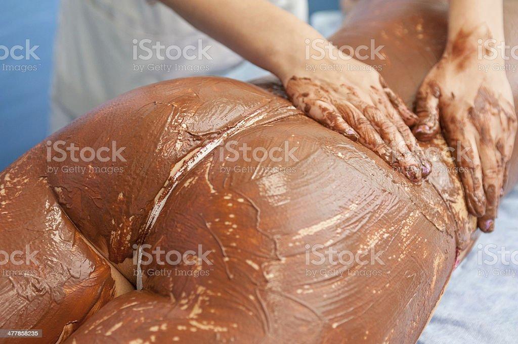 chocolate mask royalty-free stock photo