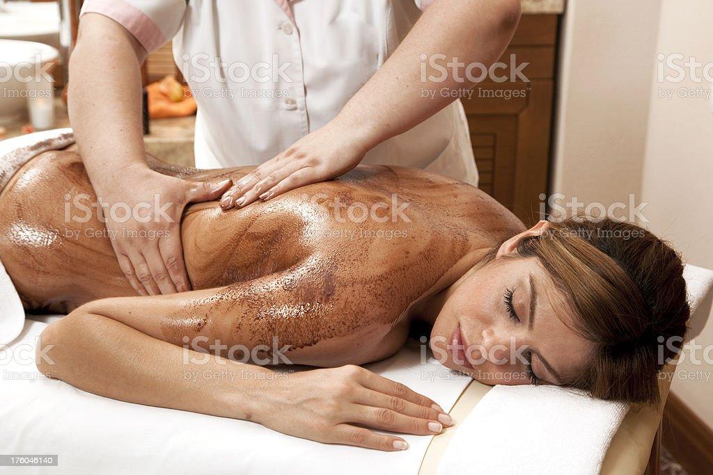 Chocolate massage royalty-free stock photo