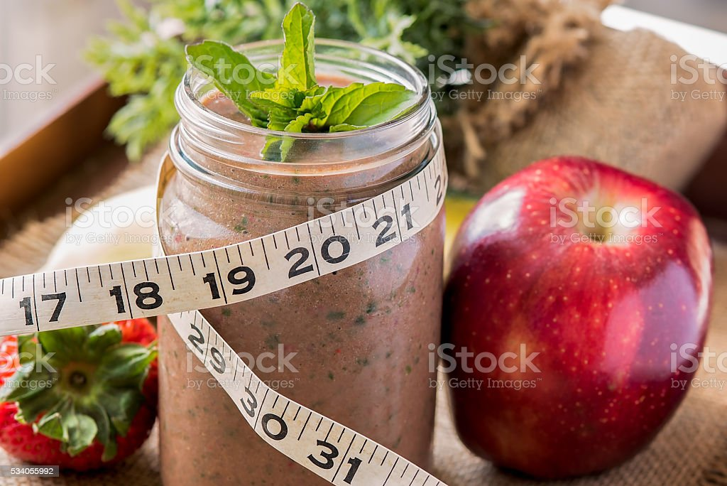 Chocolate meal replacement shake stock photo