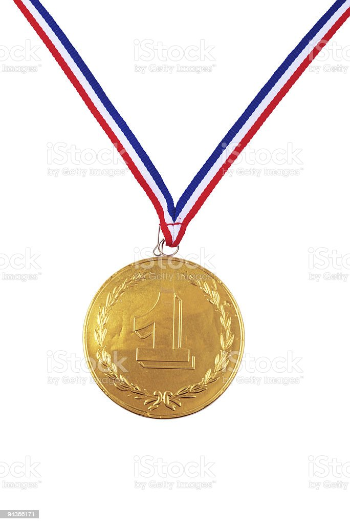 chocolate medal isolated royalty-free stock photo