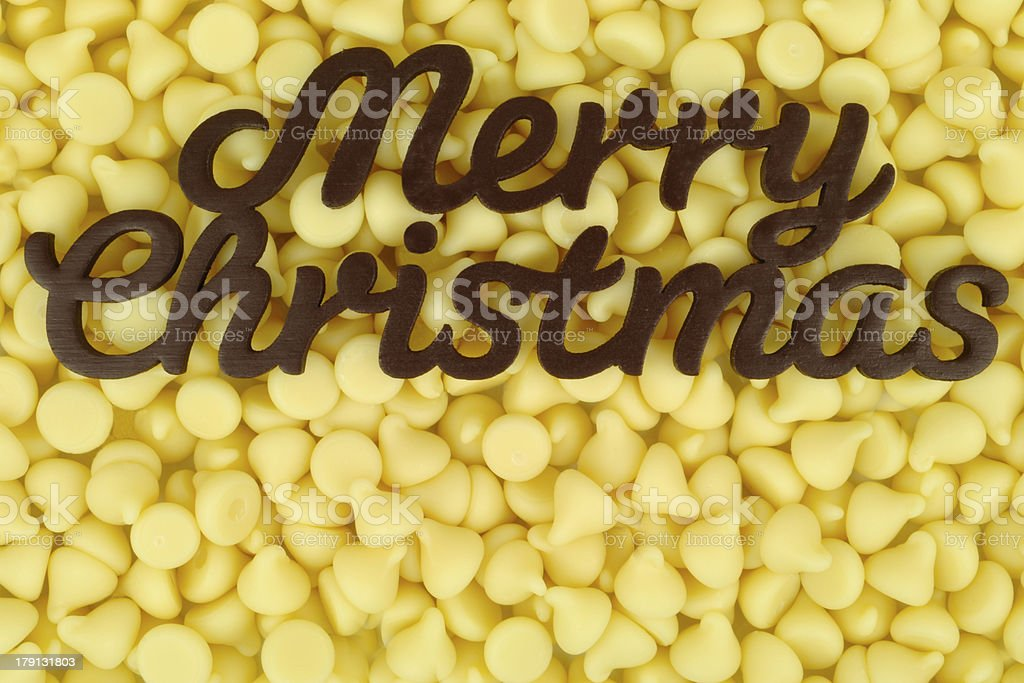 Chocolate Merry Christmas royalty-free stock photo