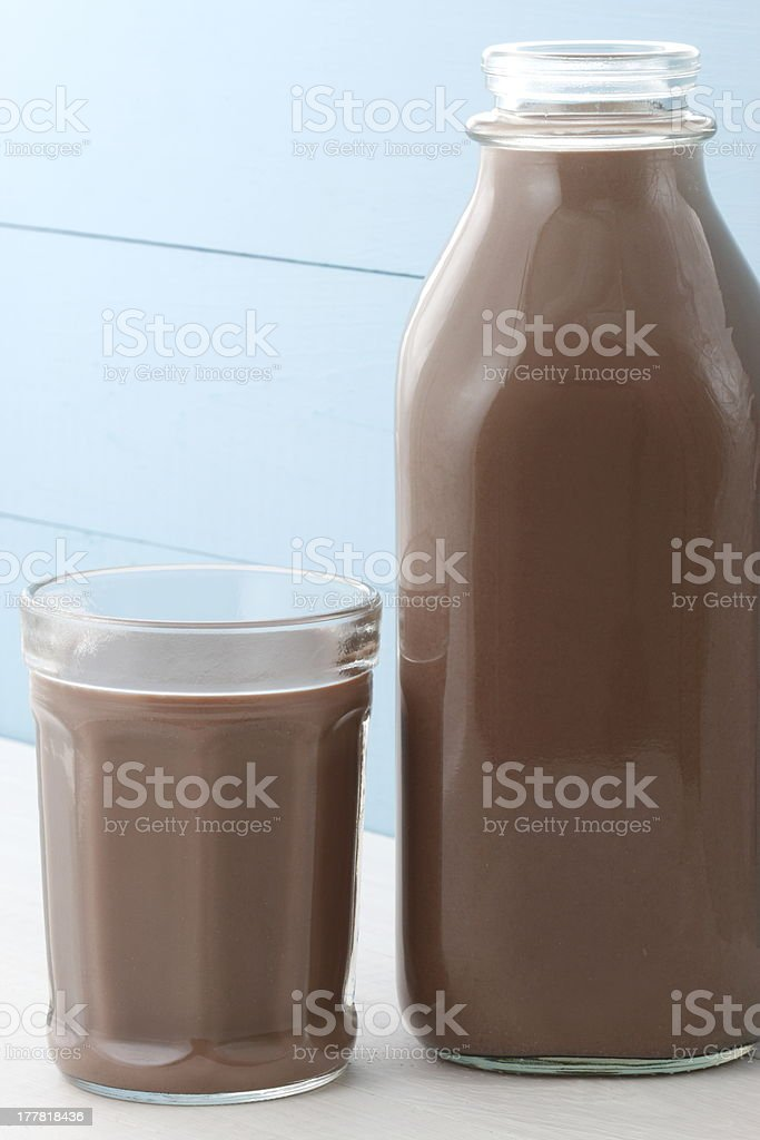 chocolate milk bottle royalty-free stock photo