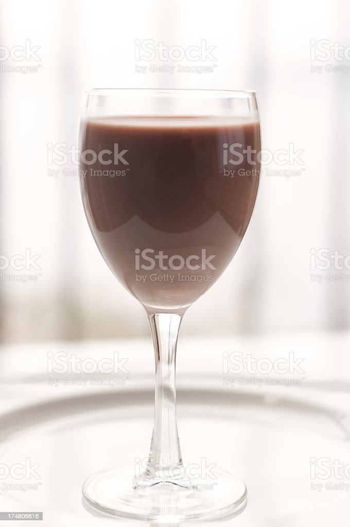 Chocolate Milk in a Goblet royalty-free stock photo