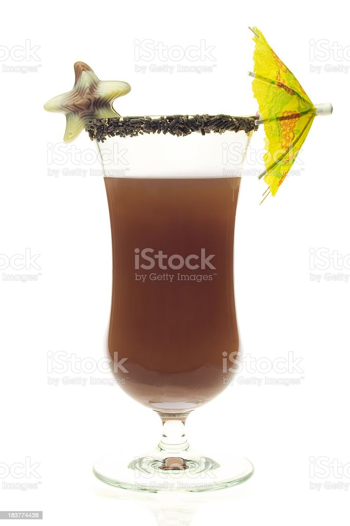 Chocolate Milk Shake royalty-free stock photo