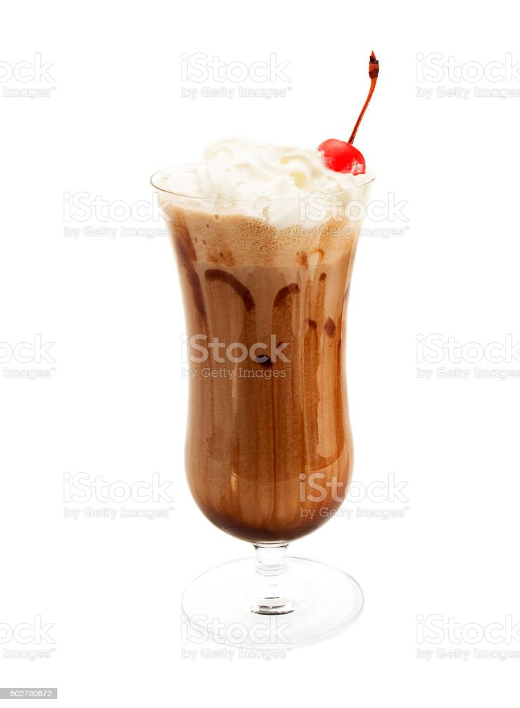 Chocolate milkshake stock photo