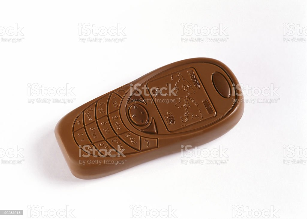 Chocolate Mobile Phone royalty-free stock photo