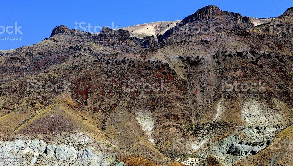 Chocolate Mountain. stock photo