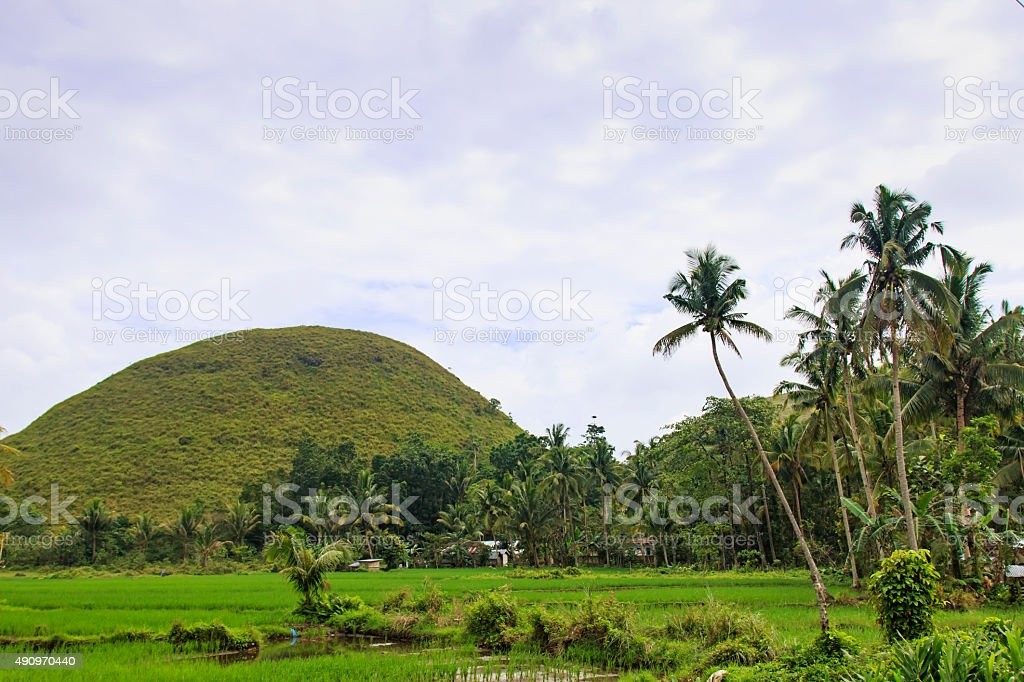 Chocolate mountains and farmer house stock photo