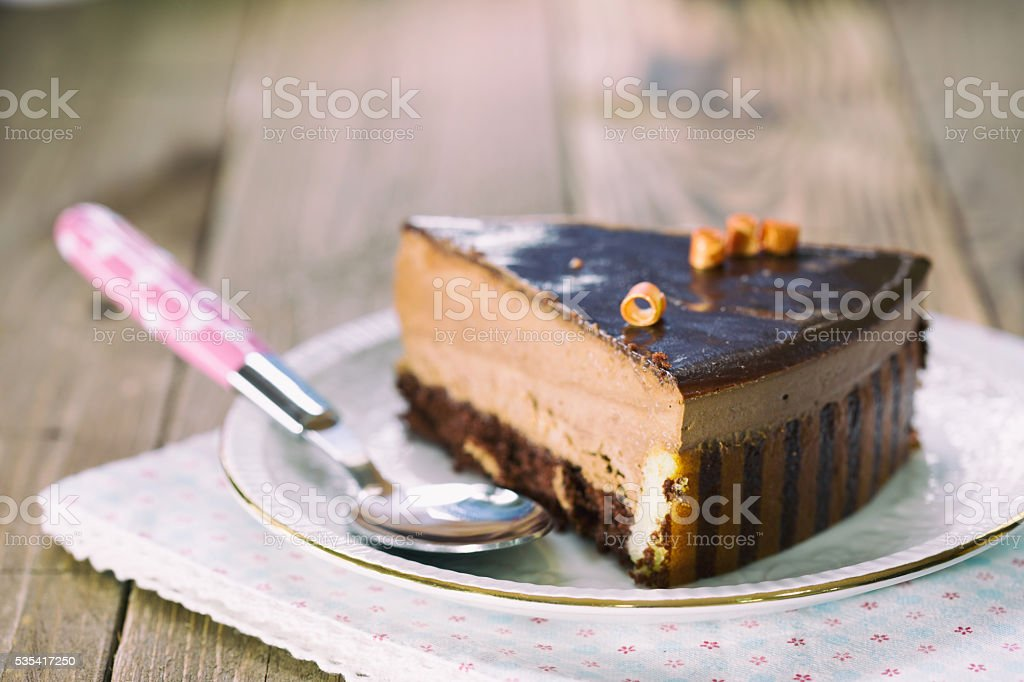Chocolate mousse stock photo