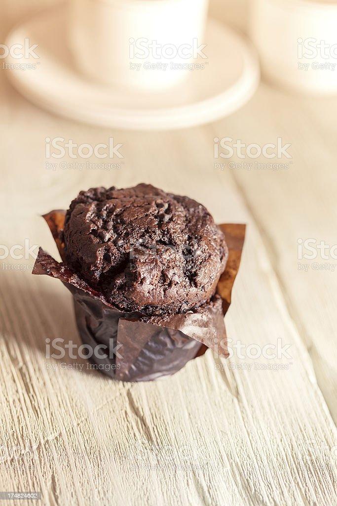 Chocolate muffin royalty-free stock photo