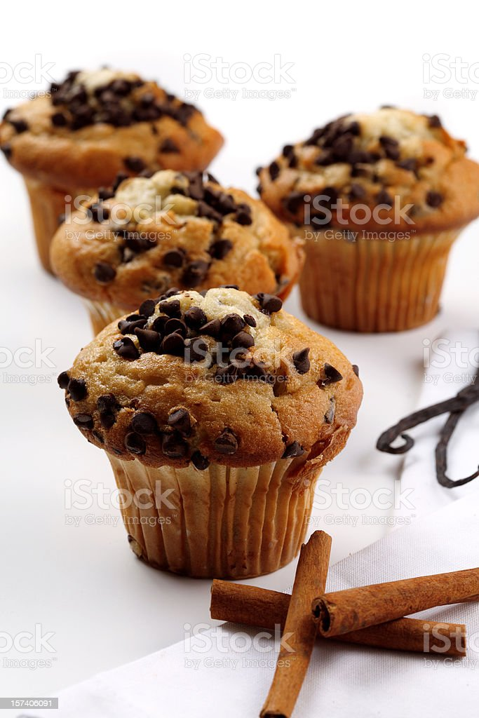 chocolate muffins royalty-free stock photo