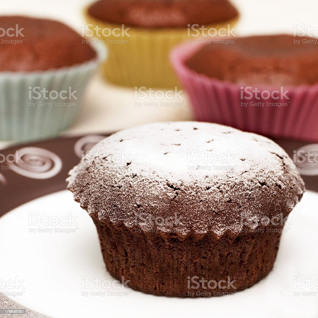muffins au chocolat photo libre de droits