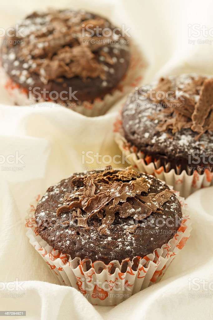 Chocolate muffins royalty-free stock photo