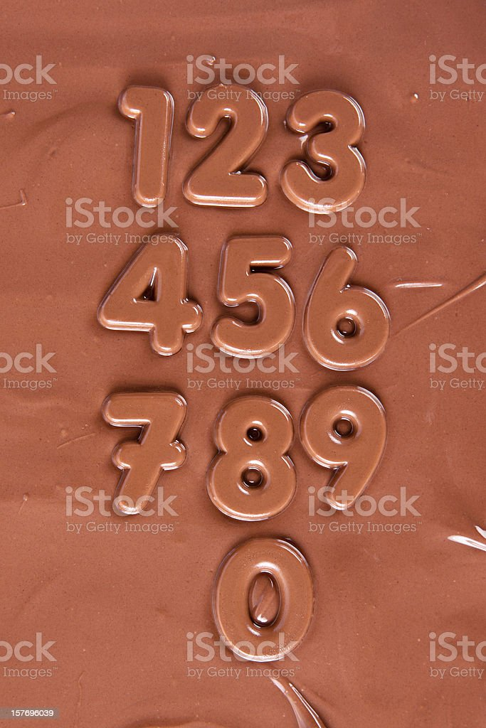 Chocolate Numbers royalty-free stock photo