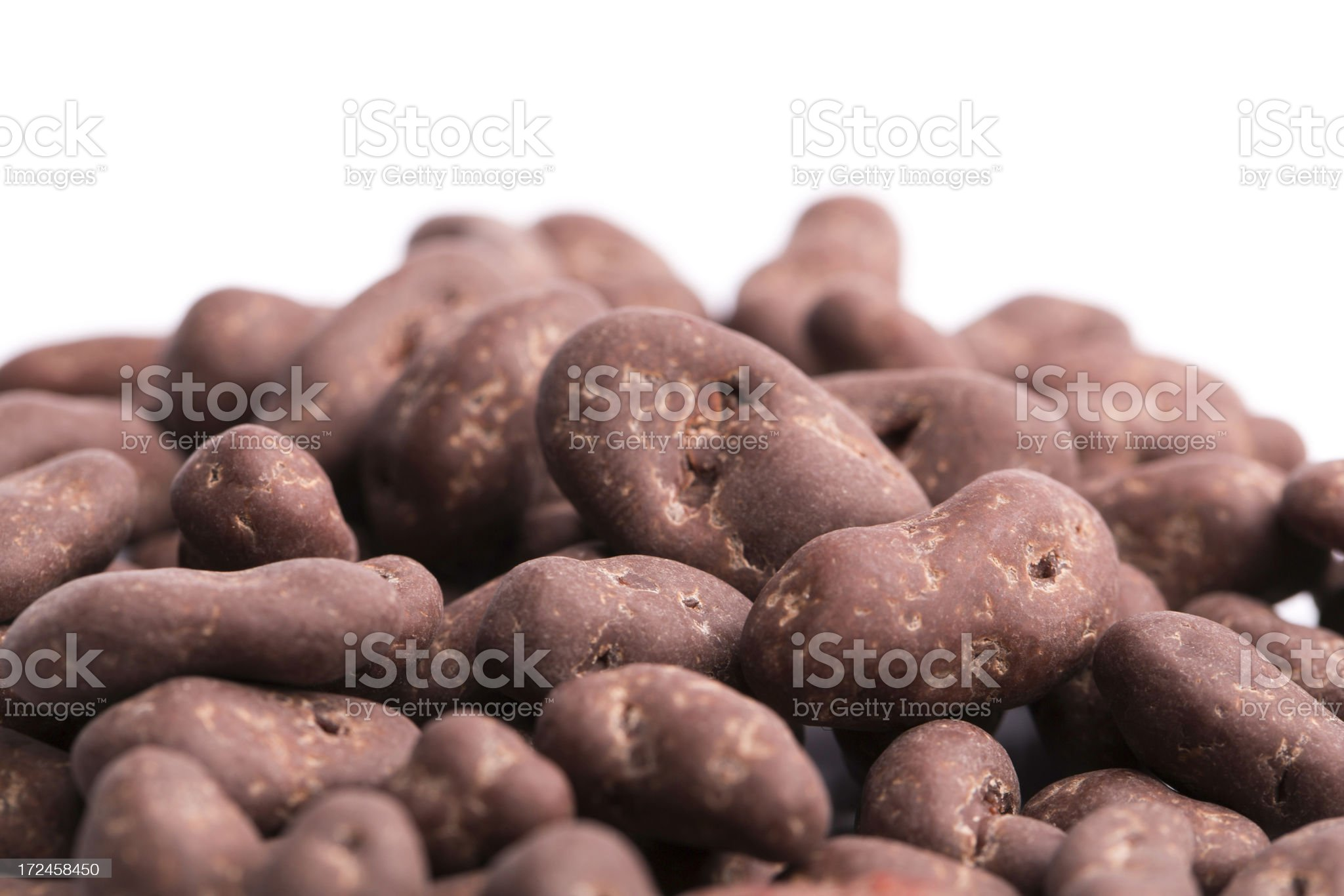 chocolate nuts/fruits royalty-free stock photo