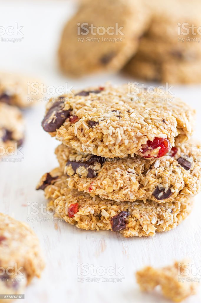 Chocolate Oatmeal Cookies stock photo