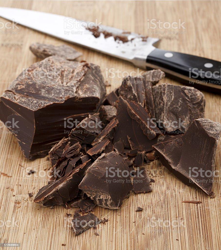 Chocolate on Cutting Board (XXL) royalty-free stock photo