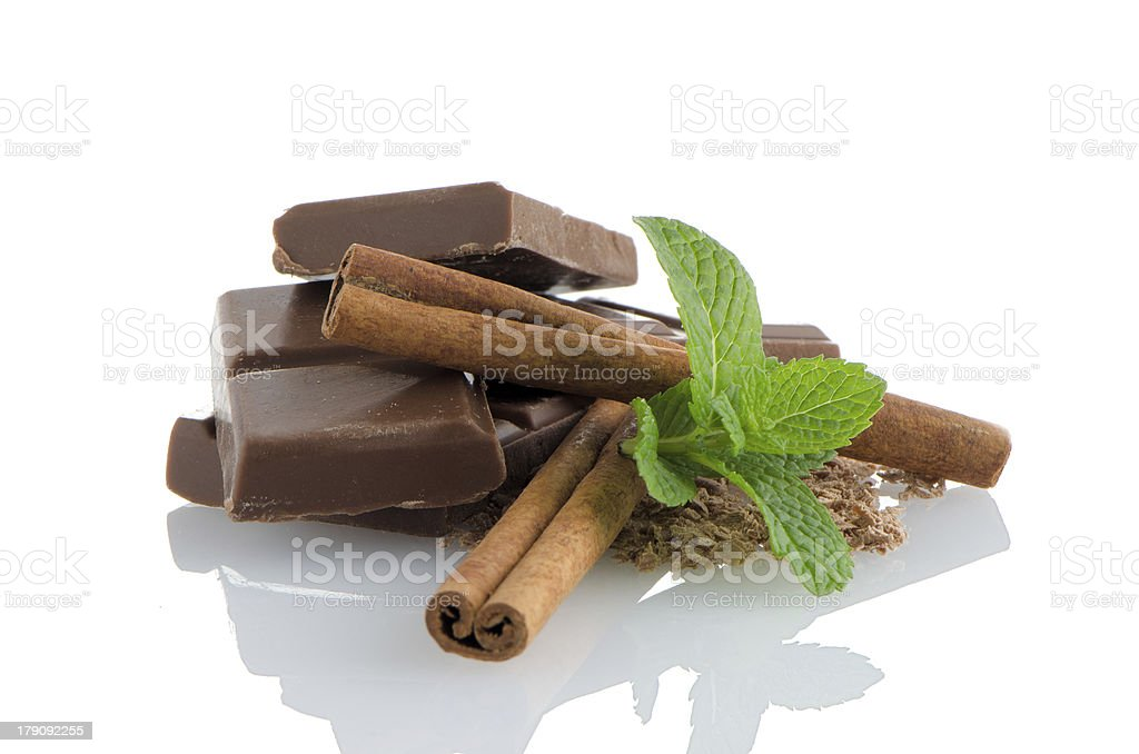 Chocolate parts royalty-free stock photo