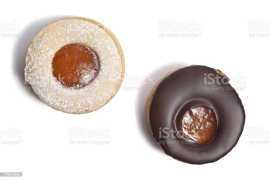 Chocolate pastry stock photo